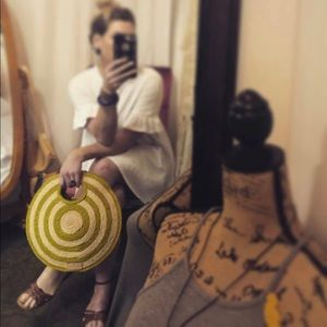 Kate Spade Woven Circle Tote 🌱 NWT